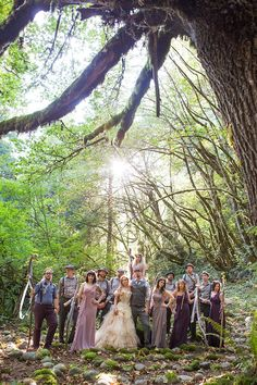 Bask in the magic of this ritualistic woodland fairy wedding