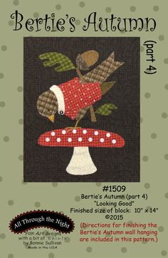Berties Autumn Wool Applique - Part 4