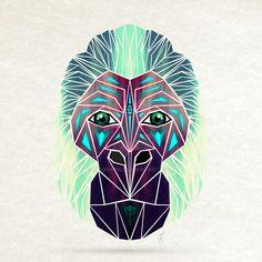 geometric gorilla - Google zoeken