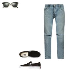 Outfit by linamc2 on Polyvore featuring Yves Saint Laurent, Vans, Ray-Ban, men's fashion and menswear