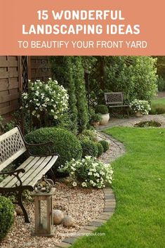 Designing the front yard is very important. It gives the house a great look. You can decorate your front yard with flowers, grass, rocks and a lot of other creative stuff. There are many front garden ideas that are generally… Continue Reading → Front Yard Garden Design, Garden Landscape Design, Lawn And Garden, Yard Design, Landscape Designs, Green Garden, Landscape Bricks, Backyard Garden Landscape, Garden Oasis