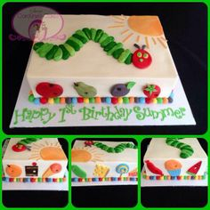 The Very Hungry Caterpillar Birthday Cake by Sweet Caroline's Cakes, Point Cook, Victoria, Australia. You'll find this Cake Appreciation Society Member in our Directory at www.cakeappreciationsociety.com