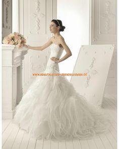2013 Herz-Ausschnitt extravagante Brautmode im Meerjungfrauenstil mit Spitze Schleier