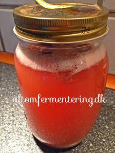 Probiotisk sodavand: Du skal bruge til 1 liter :150 ml valle-1 spsk rørsukker-800 ml saft/juice eller for eks friskpresset citronsaft blandet op med vand. Hæld det hele sammen i et glas med låg og tilsat evt lidt bær. Lad det stå på køkkenbordet i 2-3 dage. Låget skal være skruet på men ikke helt tæt.