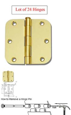 """50 Oil Rubbed Bronze 3.5/""""X3.5/"""" with 5//8 Radius Round Corner Interior Door Hinges"""