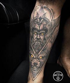 Lower Back Tattoos - Tattoo Designs Fenrir Tattoo, Thor Tattoo, Norse Tattoo, Tattoo On, Arm Band Tattoo, Tattoo Black, Pretty Skull Tattoos, Lace Skull Tattoo, Forearm Tattoos