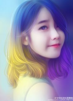Bernadette's hair (Art: IU 아이유 Fan Art by Chen吉拉 aka 安拉安拉要勇敢) Korean Art, Asian Art, Coco Hair, Lovely Girl Image, Cute Girl Wallpaper, Digital Art Girl, Anime Art Girl, Anime Girls, Manga Girl