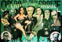 Polish poster:  Opéra de quatrsous, Wolynski