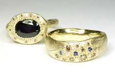Katherine Bowman  Trade wind ring with Random ring