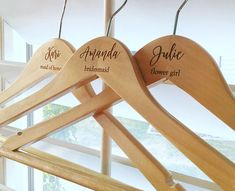 Beautiful wedding hangers make great gifts and wedding photos for the bride, groom, bridesmaids, groomsmen, mother of the bride, mother of the groom, flower girl and ring bearer