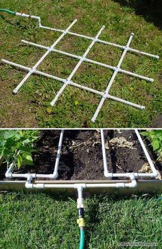 3. PVC watering grid will help you become more efficient in watering the garden.