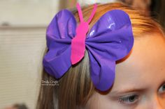 DIY Spring Hair Barrette: Butterfly Duct Tape Hairbow!