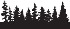 Pine Forest Tree Silhouette Pine Forest Mask Jpg - Clipart Suggest Pine Tree Silhouette, Forest Silhouette, Silhouette Clip Art, Silhouette Tattoos, Silhouette Images, Tree Clipart, Tree Svg, Kiefer Silhouette, Tree Outline