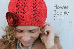 Diy flower beanie by KristinaJ., via Flickr