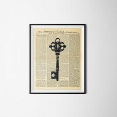 Key Print Printable wall art decor poster. by printableartidea