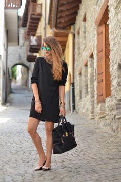 total black look nicoletta reggio outfit 2013 fashion blogger