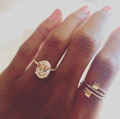 3 carat oval engagement ring via aisle perfect