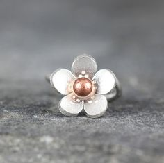 Cherry Blossom Cartilage Hoop Earring, Sterling silver Satin helix earring, gifts for her, gifts under 20, Sakura earring
