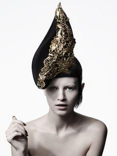 Suzy O'Rourke Millinery  Autumn / Winter 2012 'Gilt' couture hat collection    suzyorourke.com.au