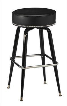 Add some edge to your décor with this trendy nailhead trim bar stool! Discover numerous styles like nailhead trim bar stools at Seats and Stools.