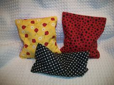 Pretty & Useful! ... love it! ... Boo Boo Bags Ouchie Bag Kids Ladybug Hot Cold by MooseRiverCrafts, $16.00