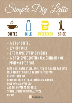 to make a HOMEMADE latte without a fancy machine!How to make a HOMEMADE latte without a fancy machine! Coffee Milk, Coffee Latte, Coffee Drinks, Coffee Shop, Decaf Coffee, Starbucks Coffee, Cocktails, Alcoholic Drinks, Beverages