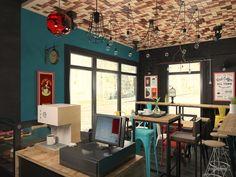 Маленькая кофейня в центре города