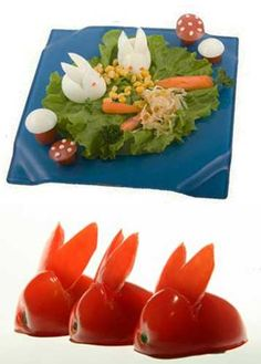 Edible Decorations for Easter Meal with Kids,
