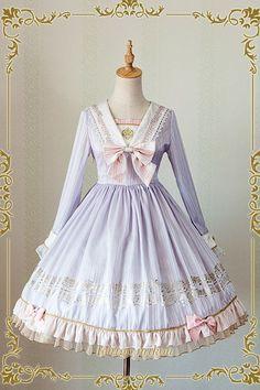 IchigoMiko -Ballad By The River Seine- Sailor Style Lolita OP Dress
