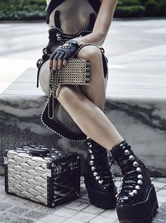 Carlotta Manaigo Locks Down Stylish Grids For T Magazine Fall2015 - 3 Sensual Fashion Editorials | Art Exhibits - Women's Fashion & Lifestyle News From Anne of Carversville