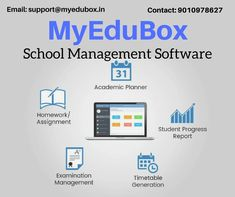 MyEduBox providing quality School Management Software Service.  With the Experience and Expertise in the Industry, we have developed this School ERP Application to help you in not only to streamline every activity on Administration and Academic side but also Avails a wide range of information required at any organizational level.  MyEduBox helps the Schools to Manage Students, Teachers, Employees, Courses and all the System and process related to running the Institute Efficiently.