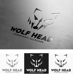 Wolf Head Logo by Super Pig Shop on Creative Market