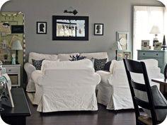 "Gray family room, ""Chinchilla"" by Martha Stewart"