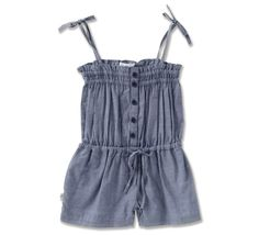Frankie Playsuit - Blue Chambray