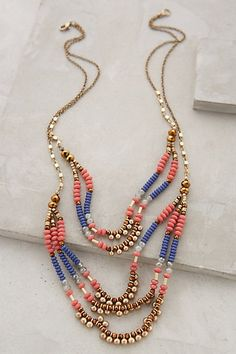 Anthropologie SUNDOWN TIERED NECKLACE #anthrofave