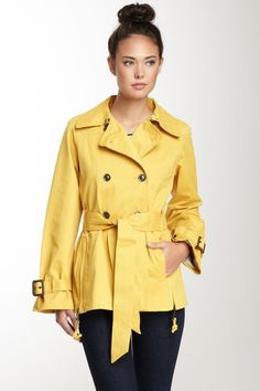Half Trench Coat by G.E.T. Outerwear on @HauteLook