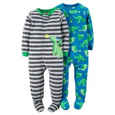 Baby Boys' 2-Pack Fleece Footed Pajamas Dragons - Just One You™Made by Carter's® : Target