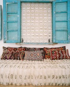Maryam Montague's home in Peacocks Pavilions, Marrakech.