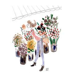 Flowers watercolor by Luisa Montalto