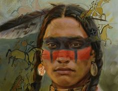 Beautiful Art of David Yorke Captures The Power And Strength of Native Americans