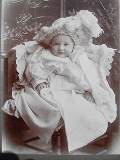 Cabinet Card Smartly Dressed Cute Victorian Baby Walter Martin Studio Ilford | eBay