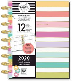 Happy Planner Medium Sticky Tabs 12//Pkg-Rainbow