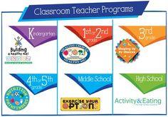 Classroom Programs: Nutrition Curriculum, Nutrition Lesson Plans for Kids K-12, Teach Nutrition, Nutrition Education