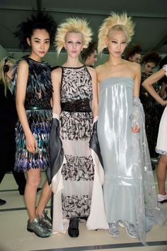 Backstage  Chanel   Spring 2014 Couture  Highlight Description Chanel   Spring 2014 Couture
