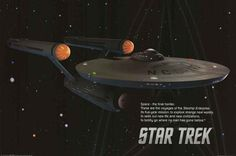Space. The final frontier... You know the rest! The opening narrative from Star Trek is displayed here on this great poster of the USS Enterprise NCC-1701! Fully licensed. Ships fast. 24x36 inches. Bo
