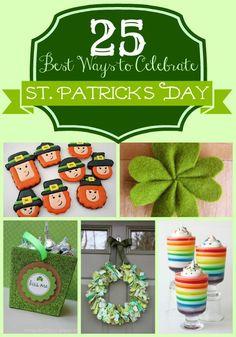 Saint Patricks Day decor remodelaholic.com #saint_patricks #green #rainbows