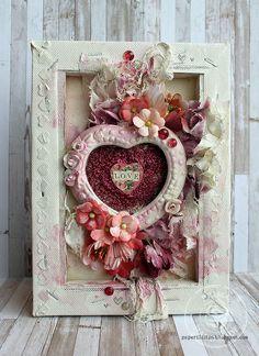 Love canvas by Riikka Kovasin for Prima Marketing