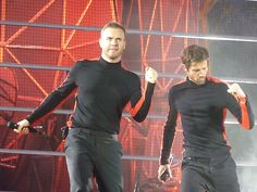 @Sofie K action shot! Take That. Gary Barlow and Jason Orange.
