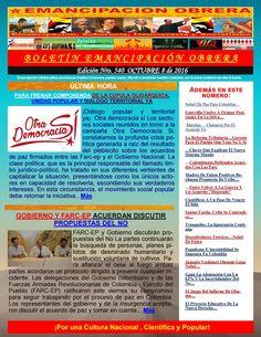 Boletin emancipación obrera n° 540 octubre 8 de 2016  Medio Alternativo, Independiente de Noticias, Análisis, Opinión, Ciencia y Cultura Popular. Guillermo Molina Miranda.