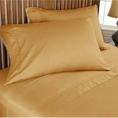 500TC Luxurious Egyptian Cotton Gold Sheet Set 4pc